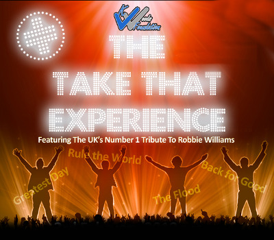 Saturday 24th April 2021, 7:30pmRescheduled from Fri 8th May 2020Tickets £21.75 (£16.75 conc)Groups of 10+ £15.00The Take That Experience is coming to town featuring the UK's number one tribute to Robbie Williams celebrating their latest music as well as the classic old songs. The night will see young local talent support before the main performance takes place. All profits going to the K Woods Foundation, this will be a special night to remember!All prices advertised include a booking fee. No fees to Friends of the Floral. A postage fee may apply.
