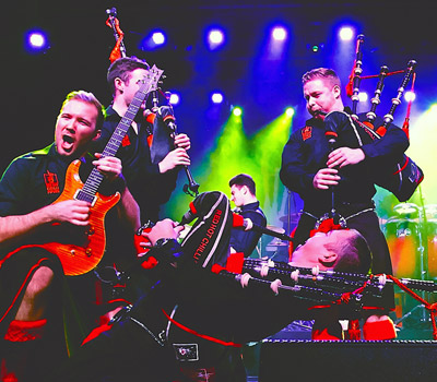 "Friday 20th May 2022, 7:30pmRescheduled from Thur 6th May 2021All Tickets £29.25There has never been anything quite like The Red Hot Chilli Pipers, from their formation in 2002 and a cameo appearance at T in the Park in 2004 with the Darkness to opening the main stage in their own right in 2014. The past fifteen  years has seen the Red Hot Chilli Pipers become the most famous bagpipe band on the planet.. ever! Bagpipes with attitude, drums with a Scottish accent and a show that carries its own health warning. The bands achievements have reached incredible heights with their groundbreaking fusion of traditional Scottish music and rock/pop Anthems which they proudly call ""Bagrock"".The Red Hot Chilli Pipers are a genuinely unique experience.The Chillis have never been more in demand for their infectious style of feel good music which appeals right across the age range to people all over the world. They have collected together an impressive group of musicians, dancers and singers from Scotland and further afield, many holding World Championship titles and all seriously good players with impressive credentials and qualifications. In 2014 The Chilli Pipers released a new live DVD and CD entitled 'Live at the Lake'. In an explosive evening of entertainment captured on this live DVD and CD, The Red Hot Chilli Pipers recorded their most adventurous project to date, bringing 16 musicians and dancers across the Atlantic to perform at Milwaukee Irish Fest, the spiritual home of the band in the USA. They captured the unique and explosive power of  the Chilli Pipers in one unforgettable evening by the shores of Lake Michigan. Tracks include .Insomnia, Gimme All Your Lovin' , Thunderstruck, Everybody Dance Now, Amazing Grace, Fix You, Chasing Cars, Wake Me Up , Don't Stop Believin and We Will Rock You.All prices advertised include a booking fee. No fees to Friends of the Floral. A postage fee may apply."