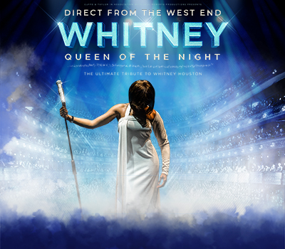 "Friday 17th June 2022, 7:30pmRescheduled from Fri 7th May 2021Tickets £27.25 (£25.25 conc)Adults 18+ OnlyDirect from The West End, experience the ultimate Whitney Houston tribute show as it tours across the UK performing over 100 concerts every year!Whitney - Queen of the Night is a stunning celebration of the music and life of one of the greatest singers of our time.This phenomenal production consistently delivers an outstanding concert that has been described as ""a powerhouse performance that delivers on every level...""Taking audiences on a magical rollercoaster ride through three decades of nostalgic hits that include: I Wanna Dance With Somebody, One Moment In Time, I'm Every Woman, I Will Always Love You, My Love Is Your Love, So Emotional Baby, Run to You, Saving All My Love, How Will I Know, Million Dollar Bill, The Greatest Love Of All and many more... Join us for an unmissable evening as we pay homage to the Queen of Pop with a sensational cast and a stunning live band.All prices advertised include a booking fee. No fees to Friends of the Floral. A postage fee may apply."