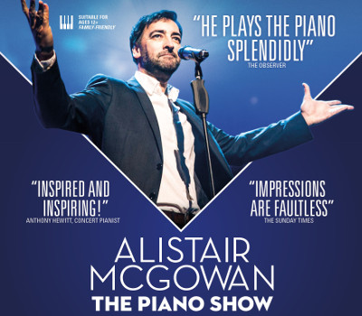 "Thursday 7th October 2021, 7:30pmRescheduled from Saturday 26th Sep 2020Tickets £24.00 (£22.00 conc)Group Discount Available for 10+ tickets""The classical concert you've always wanted to see""A unique mix of classic comedy and classical musicFollowing the surprise success of his Sony album, which reached No 1 in the UK Classical Album charts, comes Alistair McGowan's new show, combining his talents as master impressionist and comedian with his new-found talent as a classical pianist!Join Alistair as he plays classical gems by Glass, Chopin, Gershwin, Grieg, Debussy, Tiersen and Satie - expect a lot of beautiful music (with the odd mistake!) and more than a sprinkling of his trademark impressions.""Alistair McGowan's impressions are faultless"" - The Sunday Times""He plays the piano splendidly"" - The Observer""Alistair plays an impressive range of pieces with enviable touch and feeling"" - Charles Owen, pianist.""Two shows for the price of one: laugh-out-loud comedy and some surprisingly sensitive piano playing"" - James Lisney, pianist.""Inspired and inspiring!"" - Anthony Hewitt, Concert pianist. All prices advertised include a booking fee. No fees to Friends of the Floral. A postage fee may apply."