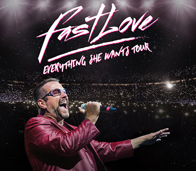 Wednesday 23rd June 2021, 7:30pmRescheduled from Fri 26th March 2021Adults £28.25 / Conc £26.25Fastlove – Everything She Wants Tour.The World's largest George Michael celebration FASTLOVE is back with a brand new show for 2021.   Now touring in 18 countries, FASTLOVE has quickly become a global phenomenon and you can be a part of it on this amazing journey for a night like no other. There will only ever be one George Michael and this show pays tribute to all his incredible music, his life and the great man himself. The Everything She Wants Tour is bigger than ever. It has it all; brand new set list featuring songs including Older, Somebody to Love, Spinning the Wheel and AS. Some old favourites returning from the very first tour including, Jesus to a Child, Praying for Time and Father Figure and of course all the classics you want - I'm your Man, Freedom 90, Carless Whisper, Club Tropicana and many many more. We knew you were waiting for this and now we're back and ready to take you to the Edge of Heaven, with Fastlove – Everything She Wants Tour.Promoter reserves the right to alter the programme.This is a tribute show and is in no way affiliated with any original artists/estates/management companies or similar shows.All prices advertised include a booking fee. No fees to Friends of the Floral. A postage fee may apply.