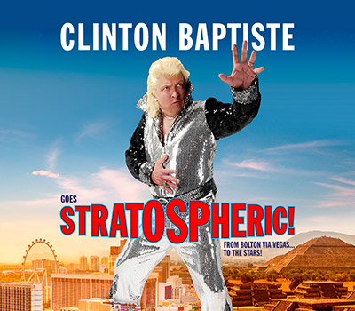 "Sunday 31st October 2021, 7:30pmAll Tickets £23.25Over 14s onlyFrom Bolton via Vegas... to the stars!Following the massive success of his last UK tour, clairvoyant medium and psychic Clinton Baptiste has gone exploring, stateside.Not quite Caesar's Palace but a series of shows in Vegas have lifted his celebrity status up a notch.  Let him take you on a journey from his humble roots via the dazzling heights of Sin City......and on to an amazing finale that will heal the world.Viva Las Vegas... Viva Clinton!Clinton Baptiste is the hapless, unsubtle psychic from Peter Kay's Phoenix Nights.  Following his sell out tour of 2019-20 ""The Paranormalist Returns"", Clinton has taken a whirlwind tour of the US. Hear his tales of rubbing shoulders with the hippy dippy new-agers from La La Land and how he hits the big time in Vegas with his lavish psychic show. For a while things couldn't be better.  A new lease of life, new teeth, new hair and a buttock lift. (Both of them.) But a humbly spiritual man at heart, Clinton realises that sometimes all that glitters ain't gold and now returns to you, his beloved British audience to once again conjure up those pure selfless gifts he was born with.For tonight, ladies and gentlemen, Clinton will all cast fame and fortune aside... and heal the world!""From the moment Lowe dances onto the stage the audience absolutely loves his show."" BRUCE DESSAU""unashamedly crowdpleasing"" BEYOND THE JOKE""old-fashioned comedy at its best."" British Theatre Guide""I would highly recommend grabbing a ticket. Seats are selling fast and you certainly won't be disappointed with this great evening of comedy."" British Theatre Guide""nothing short of genius."" On Yorkshire MagazineAll prices advertised include a booking fee. No fees to Friends of the Floral. A postage fee may apply."