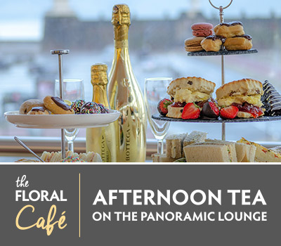 Served Daily from 12:00pm to 3:00pm£35.00 for two (£17.50 each)Bring along children under 12 for an additional £10.00 eachAdd Prosecco to make your afternoon even more specialBottega Gold (200ml) - £7.00Bottega Gold (750ml) - £35.00Sant'Orsola (750ml) - £25.00A delicious way to spend an afternoon, take a seat and relax in our Panoramic Lounge and enjoy stunning views across the River Mersey. Indulge in a selection of freshly made finger sandwiches, home-made fruit scones with delicious clotted cream and a selection of dainty cakes and pastries all served with fine selection of teas. Upgrade to a glass of prosecco to add some sparkle!Dietary requirements to be submitted upon booking