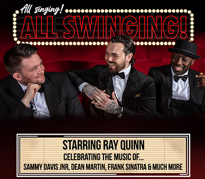Saturday 3rd July 2021, 7:30pmRescheduled from Thu 27th May 2021Tickets £26.75 (£24.75 Conc)This concert spectacular celebrates the fabulous music and tells the incredible story of the world-famous Rat Pack. Led by a bona fide star of swing music, Ray Quinn.Ray's debut album, 'My Way', features songs from this golden era of music and entered the UK album chart at number one. It sold 127,000 copies in its first week of release before being certified platinum, selling over 250,000 worldwide.Featuring all the greatest hits of Sammy Davis Jnr, Dean Martin, Frank Sinatra and many more timeless classics from the stars of swing and rat pack…with a large dash of wit, charm and charisma thrown in for good measure! Also staring Shane Nolan, (Singer/Actor/Reality TV star) and Nick James (The West End's Thriller Live).All prices advertised include a booking fee. No fees to Friends of the Floral. A postage fee may apply.