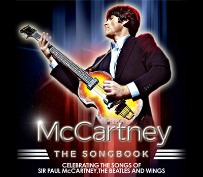 Saturday 15th January 2022, 7:30pmTickets £26.25Celebrating The Music of Sir Paul McCartney, The Beatles and WingsFrom the producers of smash hit shows That'll Be The Day and Walk Right Back, comes the ultimate McCartney experience. Brand new for 2020, McCartney - The Songbook takes to the stage recreating masterworks spanning over six decades.Starring Joe Kane (Let It Be – West end and Touring, Cavern Club, Bootleg Beatles), this fantastic production tells the story of Sir Paul's career from the early beginnings with the Fab Four, the Wings days and his prolific solo career with tales of life on the road and flashbacks to life in Liverpool.With authentic costume and instrumentation complete with a fantastic live band, McCartney - The Songbook features over 40 monster hits including Band On The Run, Can't Buy Me Love, Yesterday, Live and Let Die, Sgt Pepper's Lonely Hearts Club Band and Hey Jude. This amazing showcase of some of the greatest songs ever written is not to be missed!All prices advertised include a booking fee. No fees to Friends of the Floral. A postage fee may apply.